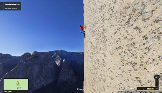 Vertical Street View of the world's most iconic rock wall